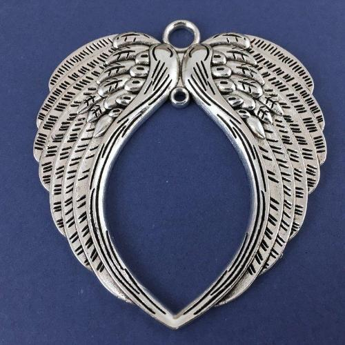 Alloy Big Wing Ornament Charm, Antique Silver | Fashion Jewellery Outlet