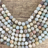 10mm Frosted Amazonite Bead | Fashion Jewellery Outlet