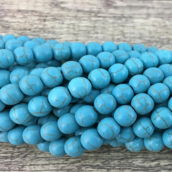 Blue Howlite Bead | Fashion Jewellery Outlet