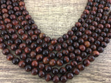 4mm Red Tiger Eye Bead | Fashion Jewellery Outlet