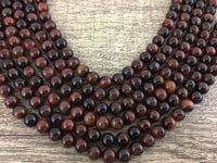 6mm Red Tiger Eye Bead | Fashion Jewellery Outlet