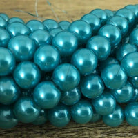 8mm Glass Pearl Bead, Turquoise Blue | Fashion Jewellery Outlet