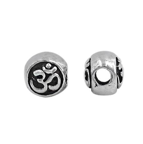 Sterling Silver Om Bead | Fashion Jewellery Outlet
