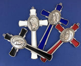 Alloy Enamel, Mary Praying Hands White Cross Charm| Fashion Jewellery Outlet
