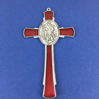 Alloy Enamel St Christopher Cross Charm | Fashion Jewellery Outlet