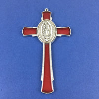 Alloy Enamel Mary Praying Hands Cross Charm | Fashion Jewellery Outlet