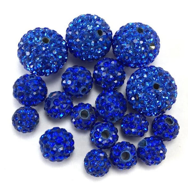 6mm Royal Blue Shamballa Bead | Fashion Jewellery Outlet