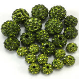 8mm Olivine Green Shamballa Bead | Fashion Jewellery Outlet
