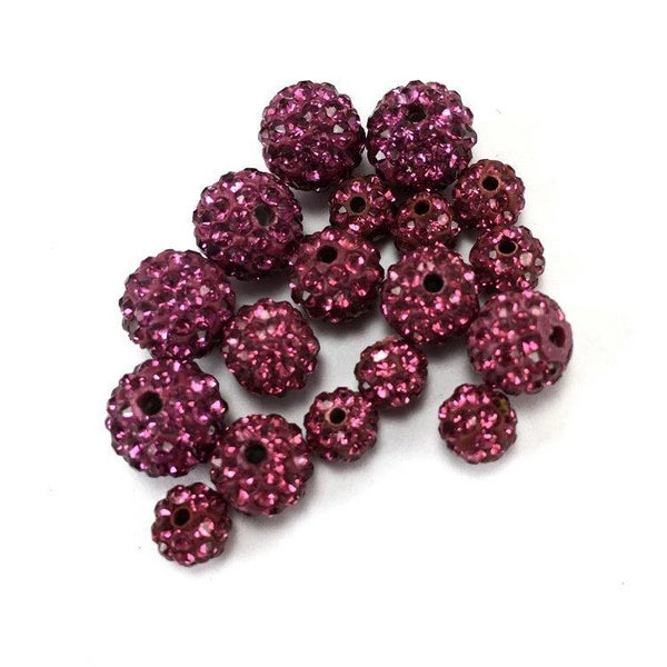 10mm Fuchsia Pink Shamballa Bead | Fashion Jewellery Outlet