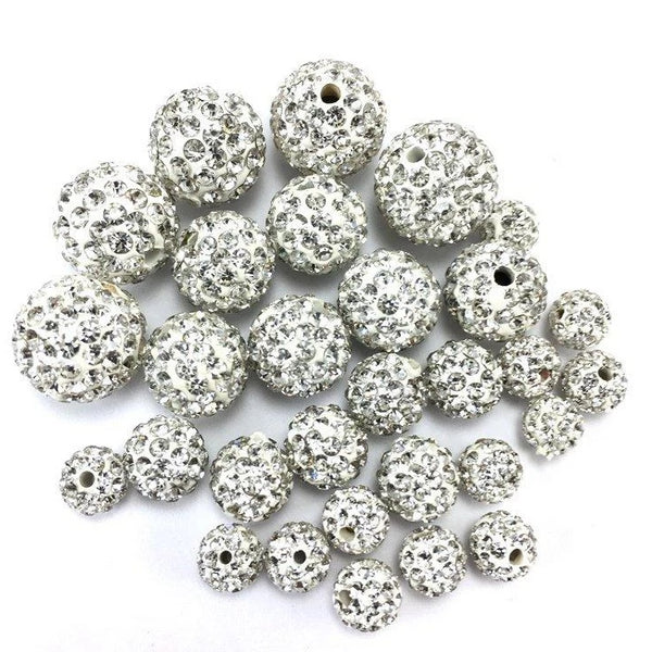 Crystal Clear Shamballa Bead | Fashion Jewellery Outlet