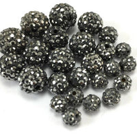 6mm Dark Grey Shamballa Bead | Fashion Jewellery Outlet