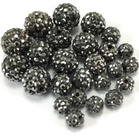 8mm Dark Grey Shamballa Bead | Fashion Jewellery Outlet