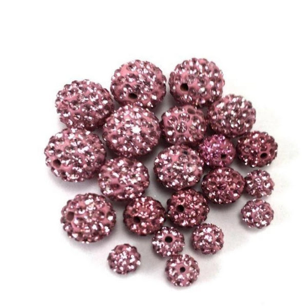 8mm Light Pink Shamballa Bead | Fashion Jewellery Outlet