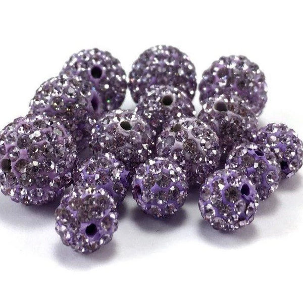 12mm Light Purple Shamballa Bead | Fashion Jewellery Outlet