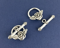 8 Sets Antique Silver Jewelry Toggle | Fashion Jewellery Outlet