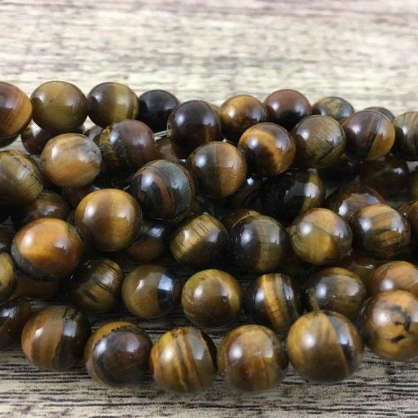 10mm Tiger eye Bead | Fashion Jewellery Outlet