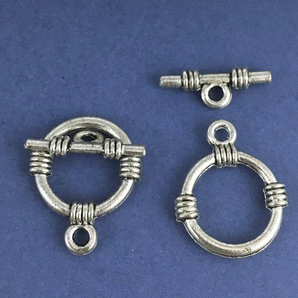 12 Sets Antique Silver Toggle for Jewellery | Fashion Jewellery Outlet