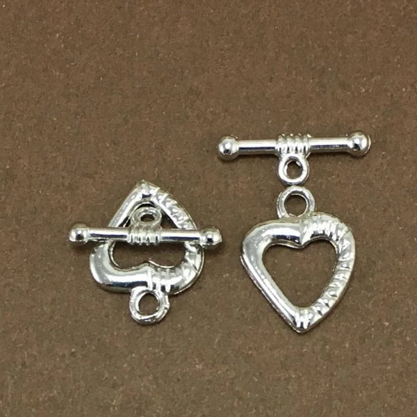 5 Sets of Small Heart Shape Jewelry Toggle | Fashion Jewellery Outlet