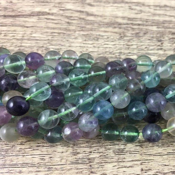 4mm Fluorite Bead | Fashion Jewellery Outlet