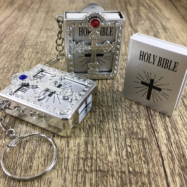 Holy Bible Keychain, Silver | Fashion Jewellery Outlet