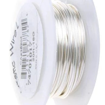 ARTISTIC WIRE 18G, Non Tarnish Silver | Fashion Jewellery Outlet