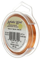ARTISTIC WIRE 18G, Natural Copper Art Wire | Fashion Jewellery Outlet