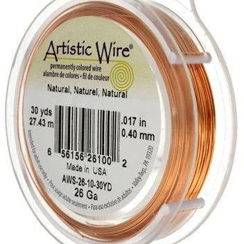 ARTISTIC WIRE 24G, Natural Copper | Fashion Jewellery Outlet