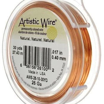ARTISTIC WIRE 28G, Natural Copper | Fashion Jewellery Outlet