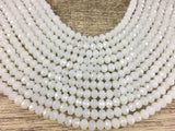 6mm Snow Ball White Faceted Glass Bead | Fashion Jewellery Outlet
