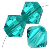 8mm Swarovski Bicone Bead Blue Zircon, 5328 | Fashion Jewellery Outlet