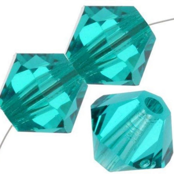 6mm Swarovski Bicone Blue Zircon, 5328 | Fashion Jewellery Outlet