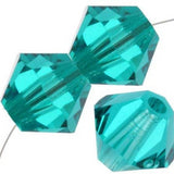 4mm Swarovski Bicone Blue Zircon, 5328 | Fashion Jewellery Outlet
