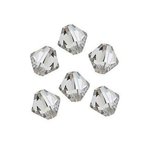 8mm Swarovski Bicone Bead Crystal Clear 5328 | Fashion Jewellery Outlet
