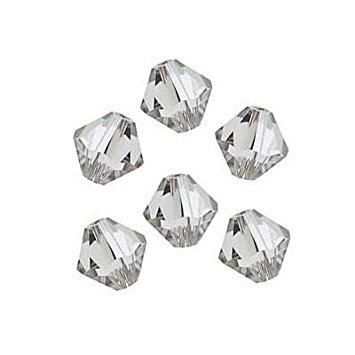 6mm Swarovski Bicone Crystal Clear, 5328 | Fashion Jewellery Outlet
