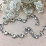 Swarovski Channel Chain, Silver with Crystal AB Stones | Fashion Jewellery Outlet