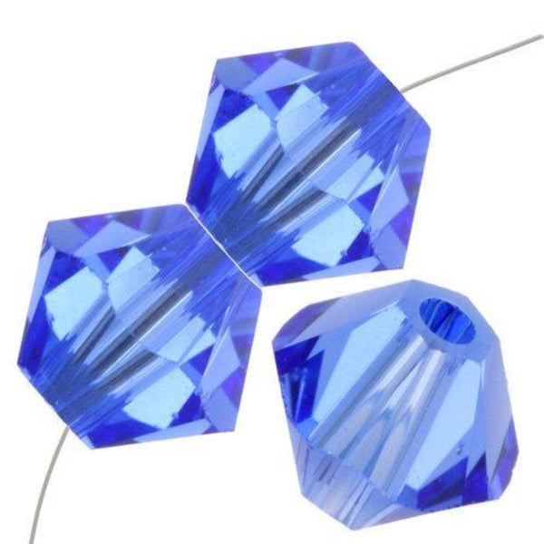 8mm Swarovski Bicone Bead Sapphire, 5328 | Fashion Jewellery Outlet