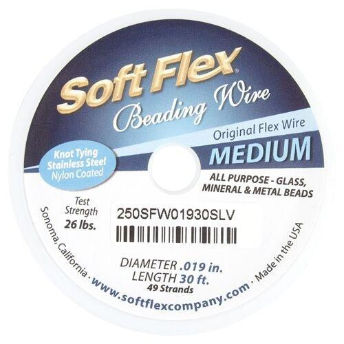 Beading Wire 30ft, Soft Flex Medium Wire | Fashion Jewellery Outlet