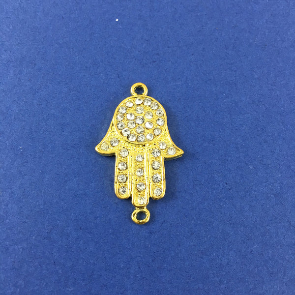 Alloy Connector, Gold Hamsa Connector | Fashion Jewellery Outlet