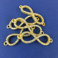 Alloy Connector, Small Gold Infinity Connector | Fashion Jewellery Outlet