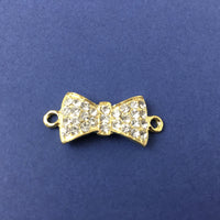 Alloy Connector, Gold Bow Tie Connector | Fashion Jewellery Outlet