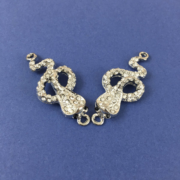Alloy Connector, Rhodium Snake Connector | Fashion Jewellery Outlet