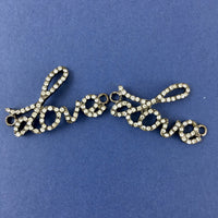 Alloy Findings, Gun Metal Love Connector | Fashion Jewellery Outlet