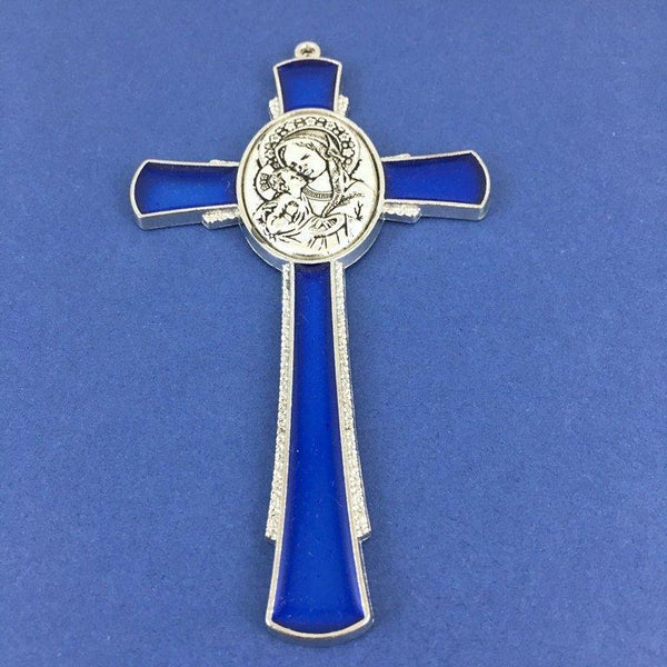 Alloy Enamel Mother Mary and Jesus Cross Charm | Fashion Jewellery Outlet
