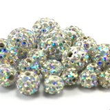 8mm Clear AB Shamballa Bead | Fashion Jewellery Outlet