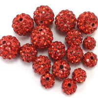 8mm Siam Red Shamballa Bead | Fashion Jewellery Outlet