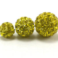 6mm Yellow Shamballa Bead | Fashion Jewellery Outlet