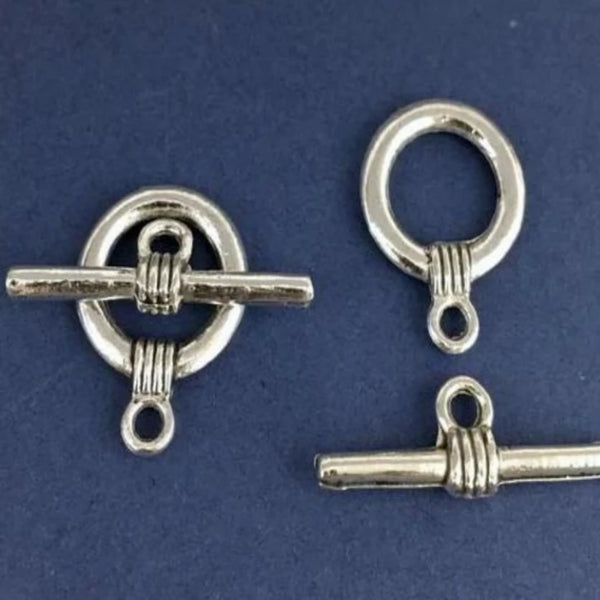 8 Sets of Antique Silver Jewelry Toggle | Fashion Jewellery Outlet
