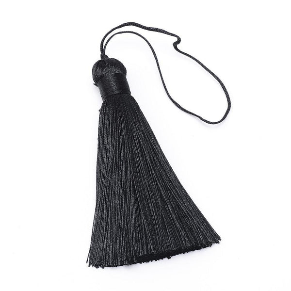 Silk Tassel for Jewelry, Black | Fashion Jewellery Outlet