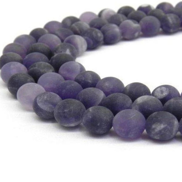 12mm Frosted Amethyst Bead | Fashion Jewellery Outlet