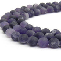 8mm Frosted Amethyst Bead | Fashion Jewellery Outlet